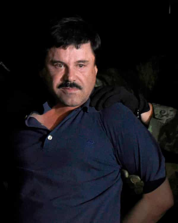 "Mexican drug kingpin Joaquin ""El Chapo"" Guzman, currently in jail in the US."