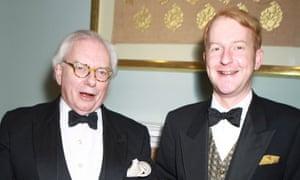 David Starkey and James Brown at a gala ball in 2011.