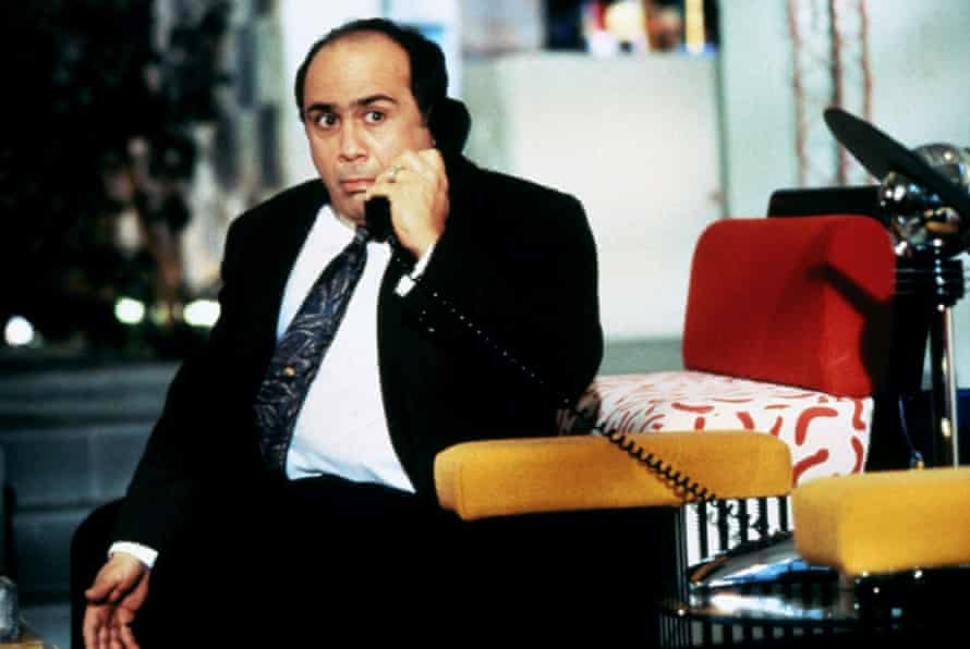 A byword for bad taste … Danny DeVito in Ruthless People; his home is kitted out with Memphis furniture.