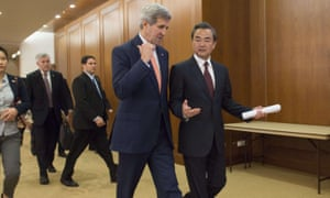 Chinese Foreign Minister Wang Yi and US Secretary of State John Kerry