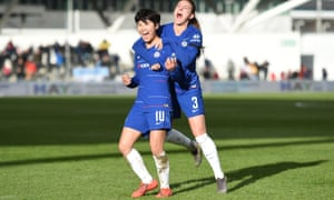 Ji So-yun celebrates her equaliser.