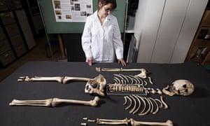 The skeleton of Cheddar Man