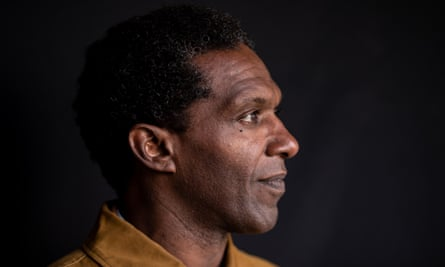 Lemn Sissay photographed in Canterbury Cathedral.