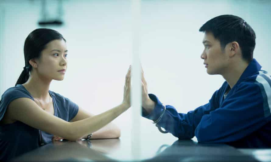 Siblings … Mei (Katie Leung) and Ajun (Sebastian So).