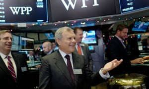 Martin Sorrell visits the New York stock exchange. Sorrell is stepping down as chief executive of WPP, the world's largest advertising group.