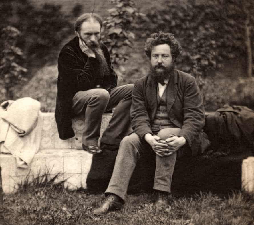 Edward Burne-Jones, left, with William Morris at the Grange, Ramsgate, in 1874.