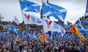 An independence rally in Glasgow in November 2019.