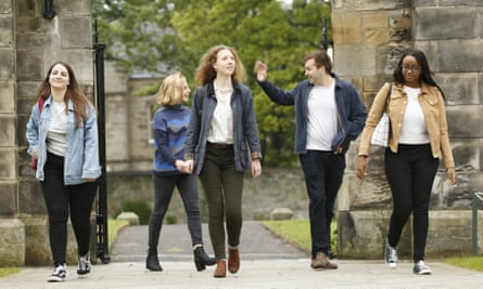 Students at the University of St Andrews.