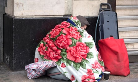 Rough sleeping in England has risen by 169% since 2010, according to the Feantsa report.