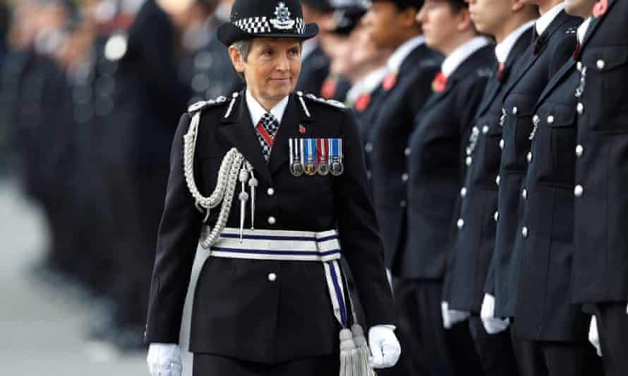 Met commissioner Cressida Dick inspects police cadets at their passing out parade in Hendon