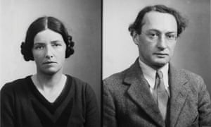 Passport photographs of Dorothy Pilley and Ivor Richards