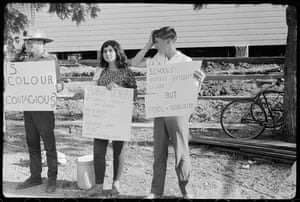 A Student Action for Aborigines protest outside Moree Artesian Baths on 16 February 1965