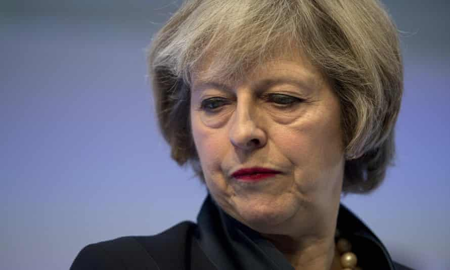 Theresa May addresses delegates at the annual Confederation of British Industry conference in central London.