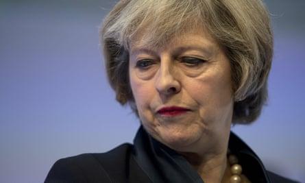 Theresa may addressing Confederation of British Industry, Nov 2016