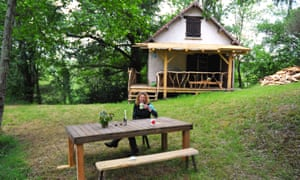 Kate Humble at the Poacher's Cabin in the Dordogne, France.