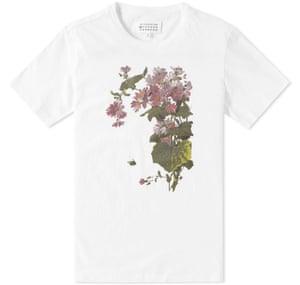white t-shirt floral print
