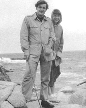 Ted Hughes and Sylvia Plath in Massachusetts, 1959.