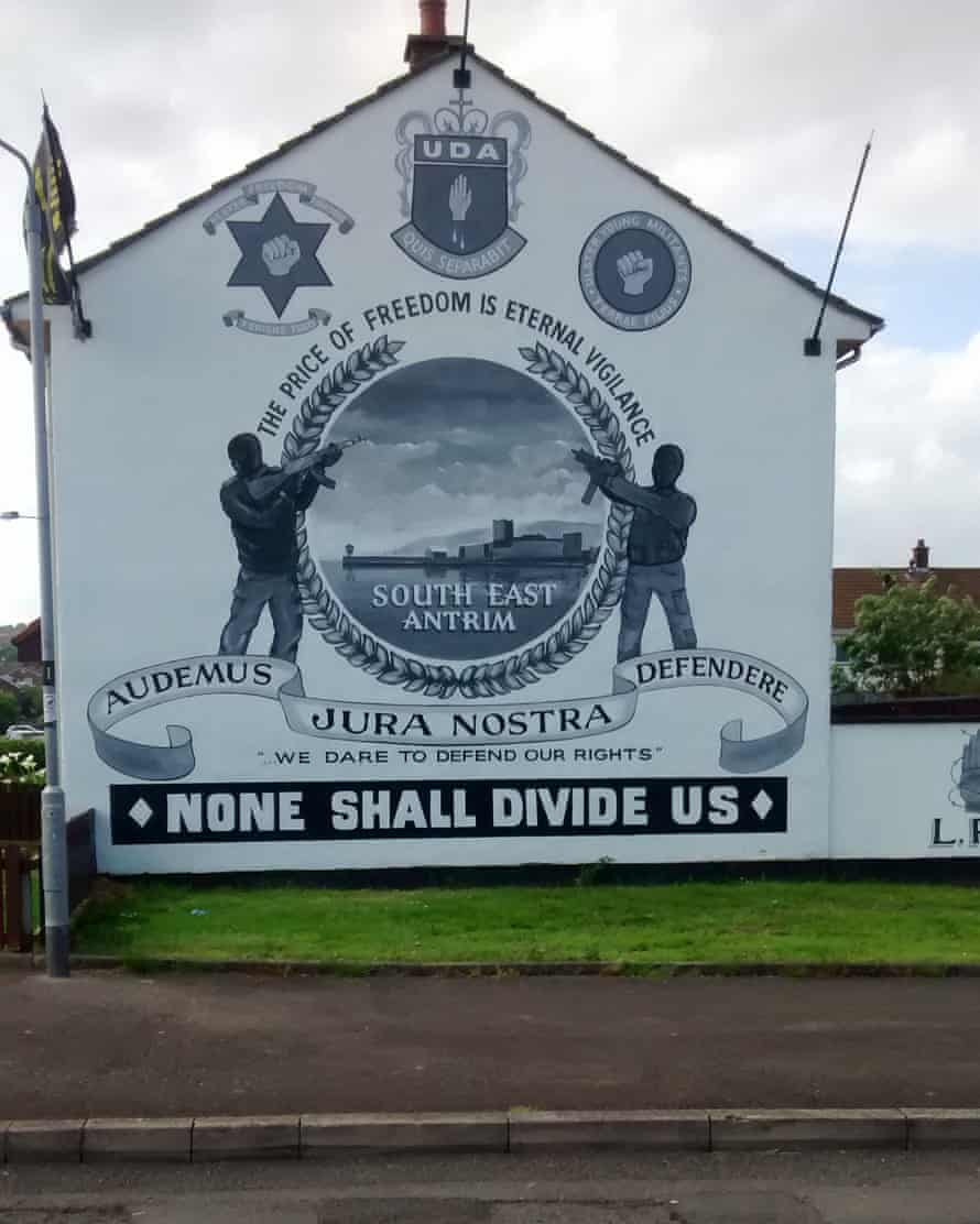 A mural about the Ulster Defence Association.
