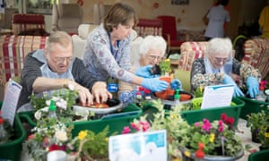 A therapeutic horticulture session at Phyllis Tuckwell hospice care in Farnham, Surrey.