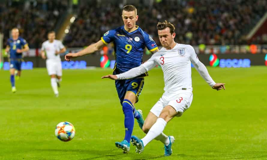 Ben Chilwell in action away to Kosovo in November 2019, in England's last Euro 2020 qualifier