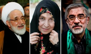 Mehdi Karroubi, Zahra Rahnavard and Mir Hossein Mousavi
