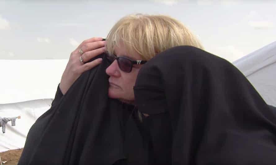 Children of Khaled Sharrouf, an Australian Isis terrorist, seen being reunited with grandmother, Karen Nettleton, in Syria in this year