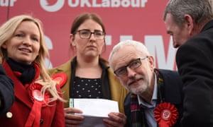 Jeremy Corbyn campaigns in Stainton Village, near Middlesbrough