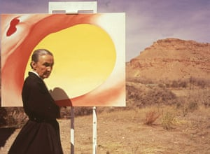 O'Keeffe in Albuquerque, New Mexico, 1960