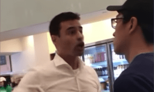 Aaron Schlossberg confronts staff at a Manhattan branch of Fresh Kitchen in a now viral video.