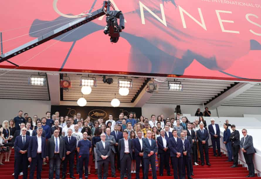 A minute of silence for the victims of the Manchester Terror Attack at Cannes film festival.