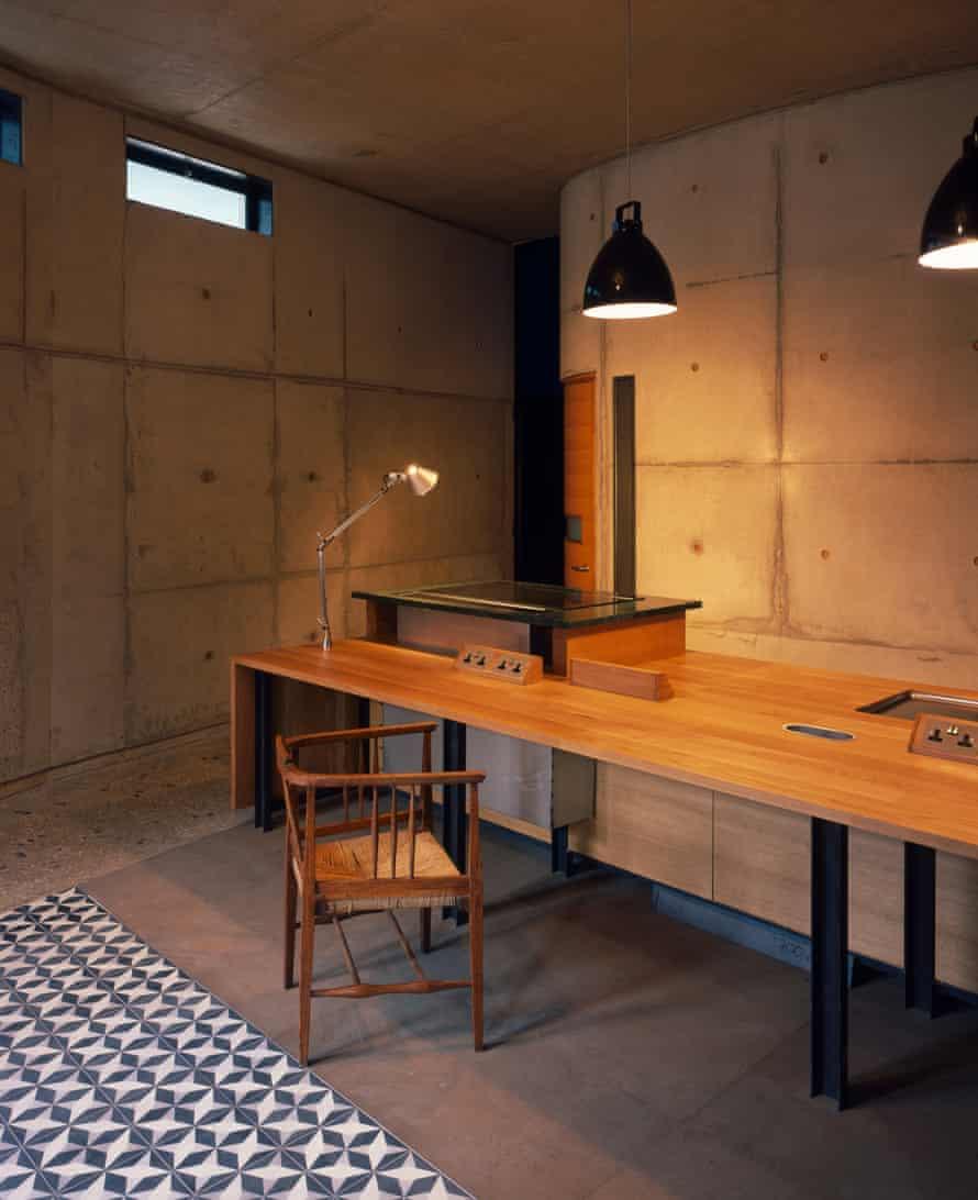House A's kitchen.
