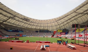 The Khalifa International Stadium in Doha is due to the be centrepiece of the world championships.