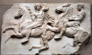 Share and share alike … a frieze from the Elgin marbles in the British Museum.