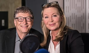 Kirsty Young interviewing Bill Gates on Desert Island Discs in 2016.