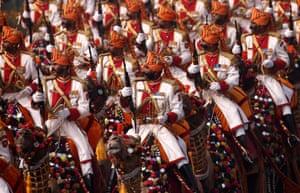 New Delhi, India. A colourful display celebrating Republic Day