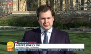 Robert Jenrick on Good Morning Britain this morning.