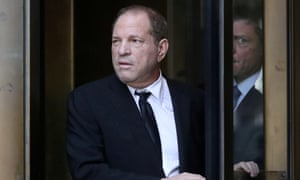 Harvey Weinstein leaves New York supreme court after his arraignment on 26 August.