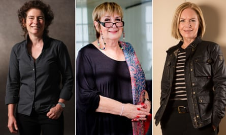 Mariella Frostrup, right, said HRT gave her back her life, while Jeanette Winterson, left, sought bio-identicals as a 'natural' alternative. Jenni Murray, centre, developed breast cancer after 10 years on HRT.