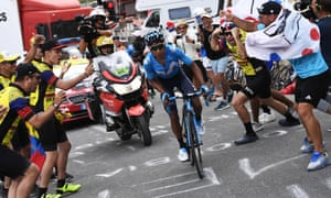 Nairo Quintana proved too strong climbing the Col du Galibier and the Colombian sped away to put himself back into GC contention.