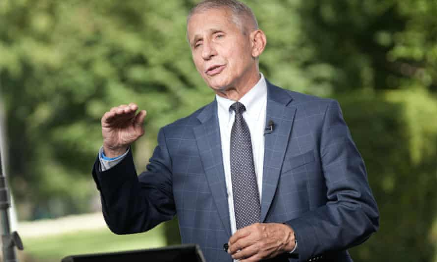 Anthony Fauci said the US was still 'in pandemic mode,' far from the 10,000 cases a day that would begin to feel more 'comfortable'.