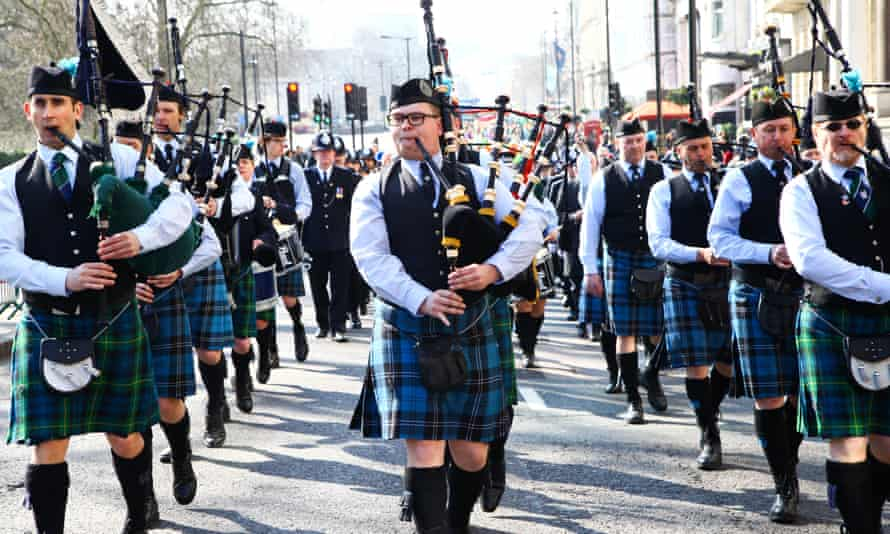 A St Patrick's Day parade in London.