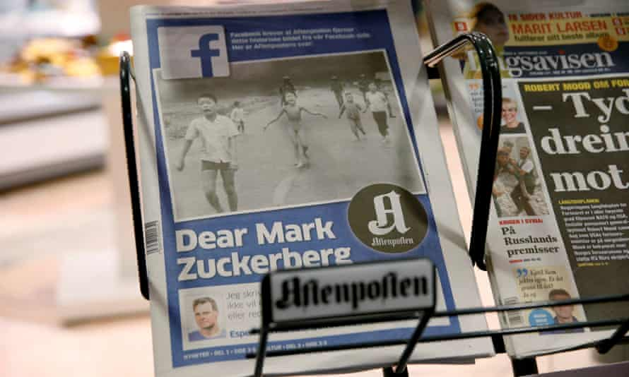 Norwegian newspaper Aftenposten attacks Facebook's automated censorship.