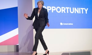 Theresa May dances at the 2018 Conservative party conference