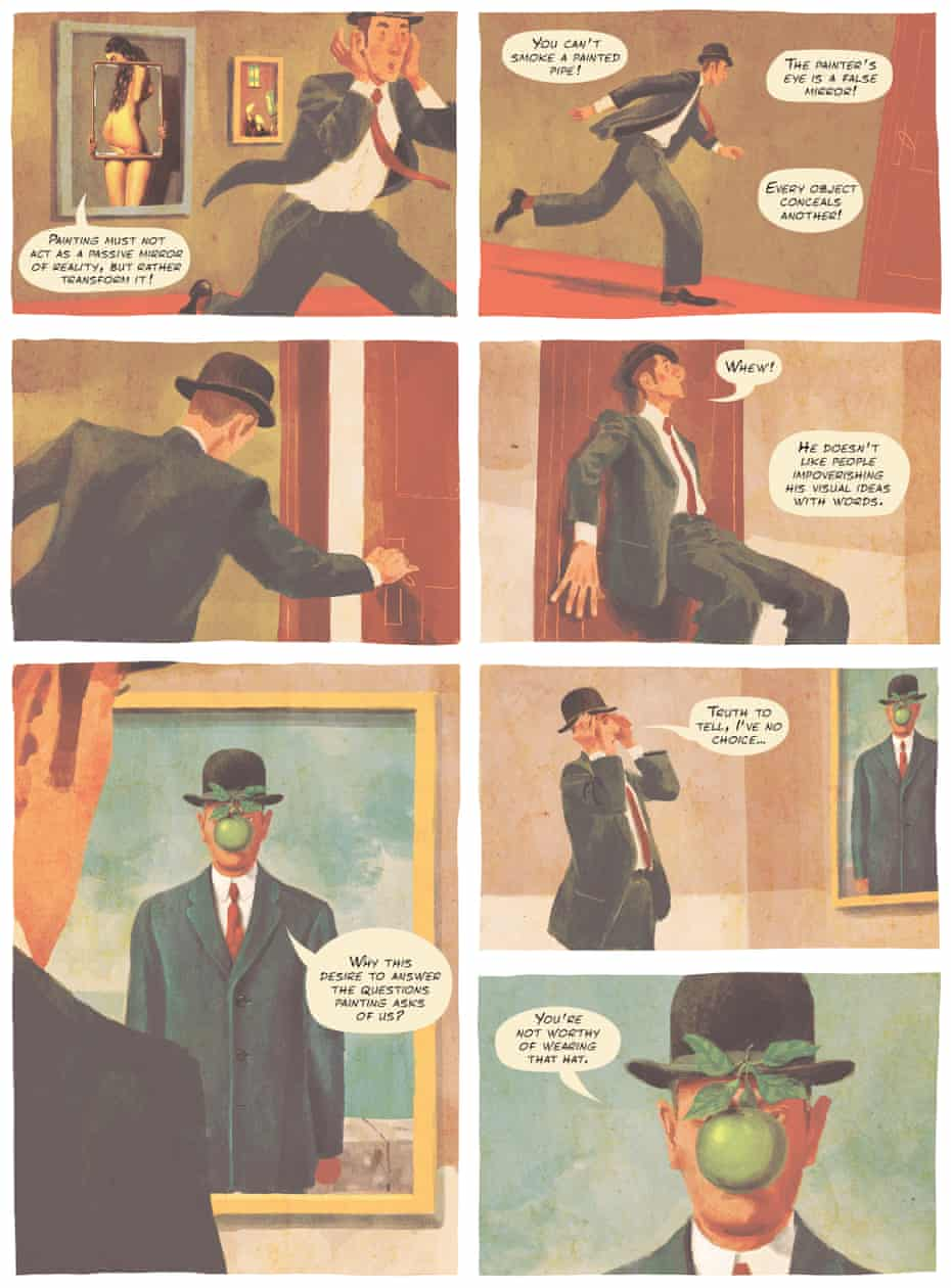 Thomas Campi's illustration for Magritte: This Is Not a Biography by Vincent Zabus and Campi.
