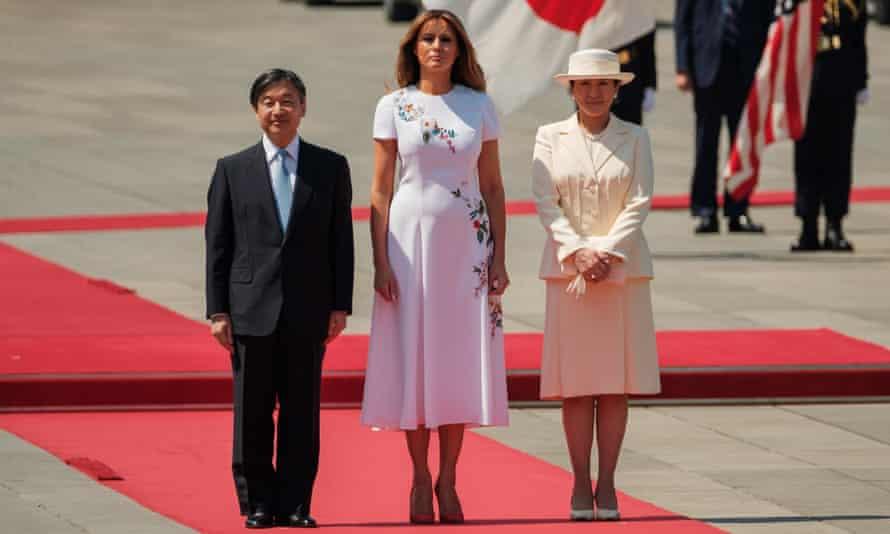 Emperor Naruhito, Melania Trump and Empress Masako at the Imperial Palace in Tokyo