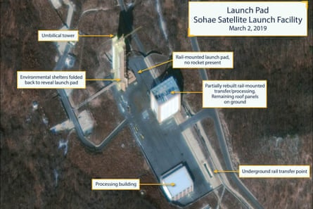 Commercial satellite image shows North Korea's Sohae Satellite Launching Station.
