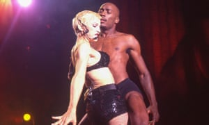 Carlton Wilborn with Madonna on the Girlie Show tour, 1993.