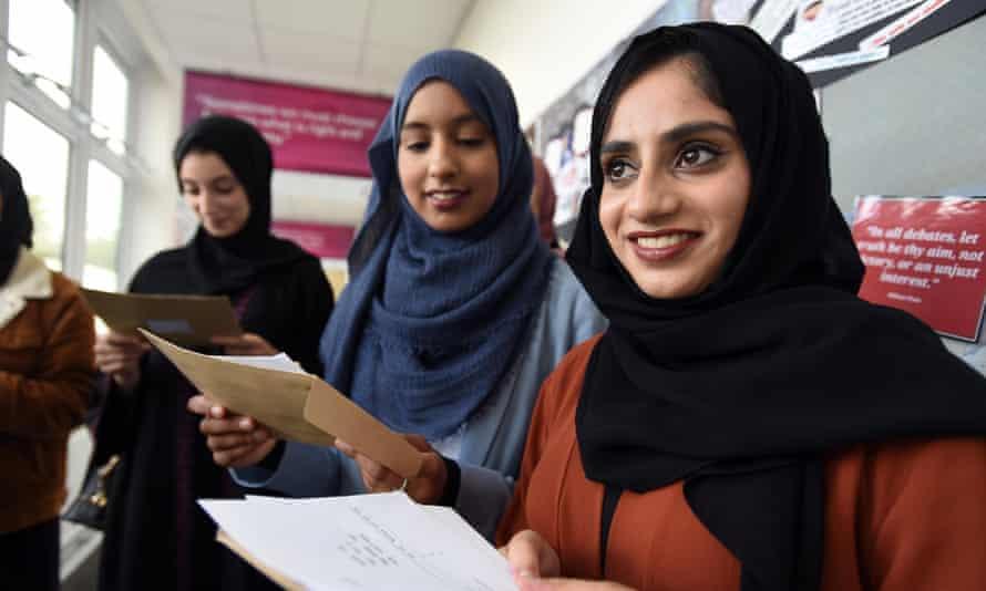 Khansa Iqbal and Zainab Bhola receive their A-level results