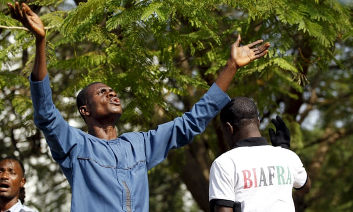 Why Nigerian protesters still march to Radio Biafra's
