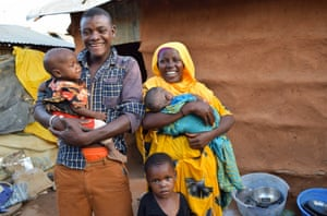 Mihiyo and her family in Dadaab
